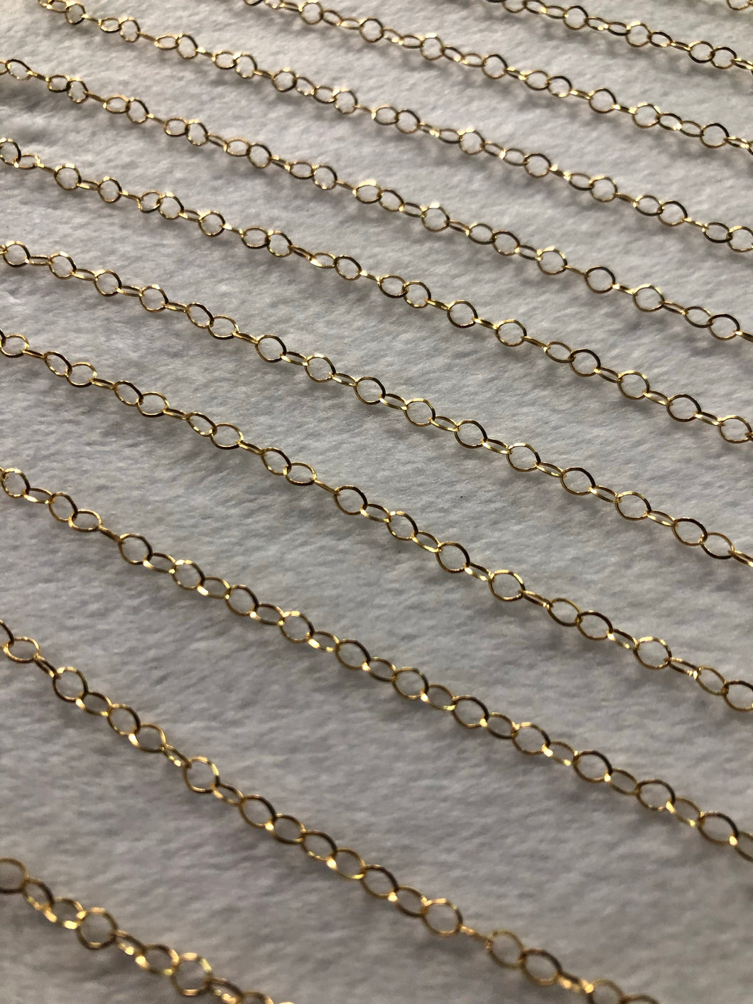 14K Gold-filled Oval Triangular Chain