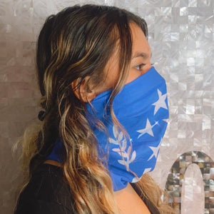 Kosrae State Flag Face Mask, Neck Gaiter, Scarf, etc.