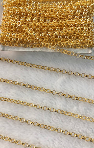 14K Gold-filled Heavy Rolo Chain