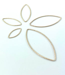 14KGF Leaf Shape, textured finished, 14K gold filled