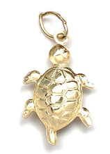 14K solid gold turtle charm, SKU#198C