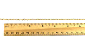 14KGF 3.4mm Fancy Cable/ Bracelet Chain, 14K Gold Fill, 14K Gold Filled, Sku: SM153