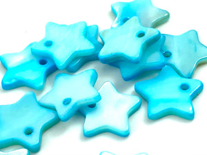 Mother Of Pearl Blue Star Beads, Sku#M201