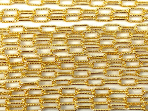 14KGF 2.5mm Course Line Elongated Cable Chain, 14K Gold Filled, 14K Gold Fill, Sku: S2505L