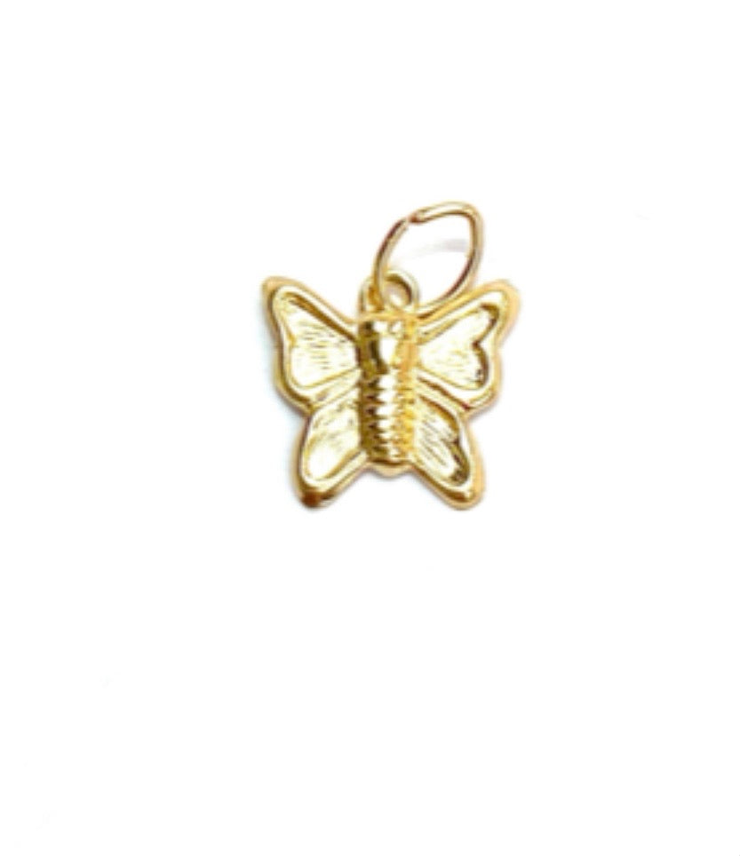 14KGF Butterfly Charm 2074-C