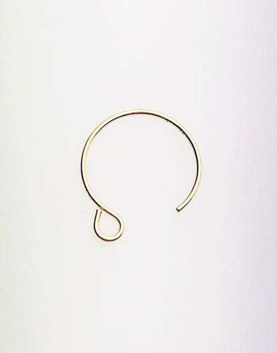 4K Gold Fill Circle Ear Wire 13.0mm (0.64mm), Made in USA - 4006601