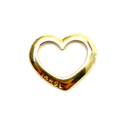 14K gold heart charm , SKU#L-159