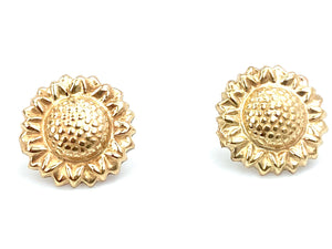 14KGF Sunflower Studs , Sku#1802-4