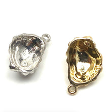14K solid gold and white gold sea shell charm, SKU# L-23