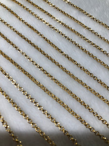 14K Gold-filled Rolo Chain