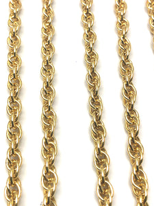 Double 14KGF rope chain , 14K gold filled , SKU #070774