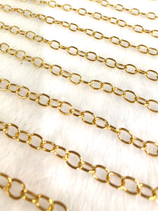 3.3mm 14K Gold-filled Cable Chain