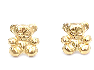 14KGF Teddy Bear Studs , Sku#709-4