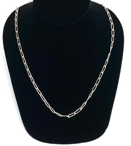 Sterling Silver 3.9mm Elongated Cable Chain, Sku: SM279
