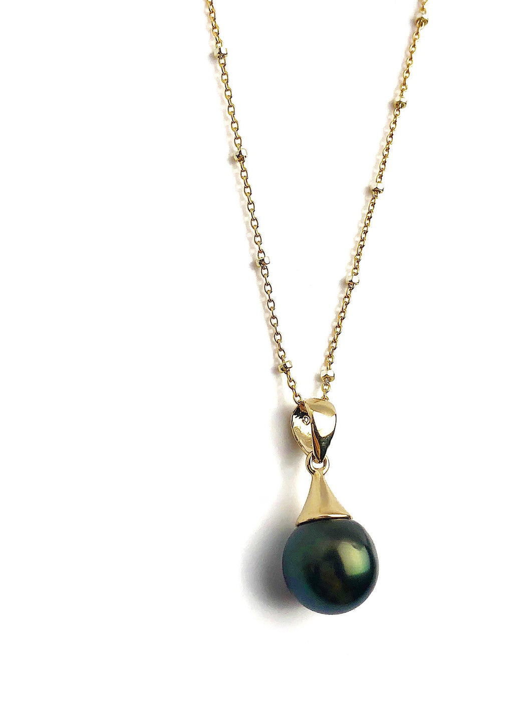 Pearl Pendant Setting - 14K Yellow Gold - Setting only - No pearl included. TP-241/14KGF