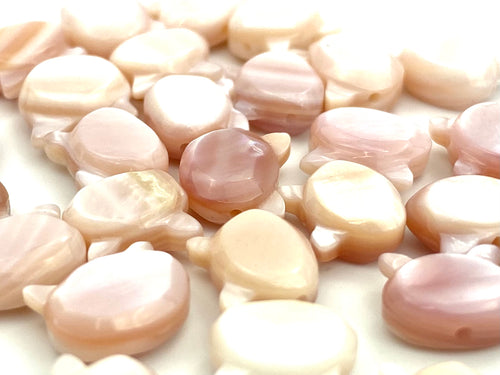 Mother Of Pearls Pink Cat Beads, Mother Of Pearl Beads, Sku#M19