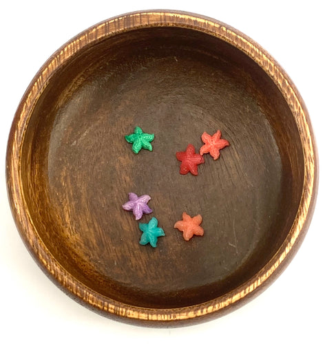 Mother Of Pearl Small Starfish Beads, Sku#M679