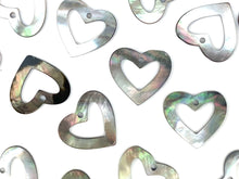 Mother Of Pearl Heart Shell, Sku#M367