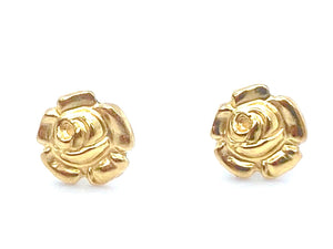 14KGF Rose Studs , Sku#534-4