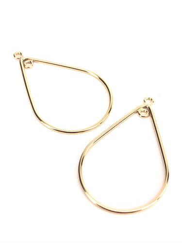 14KGF Raindrop Hoop Earring Sku#752-1 IN+OUT
