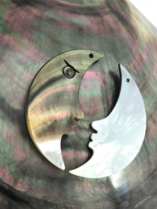 Black Tahitian Mother Of Pearl Moon Sku#M306