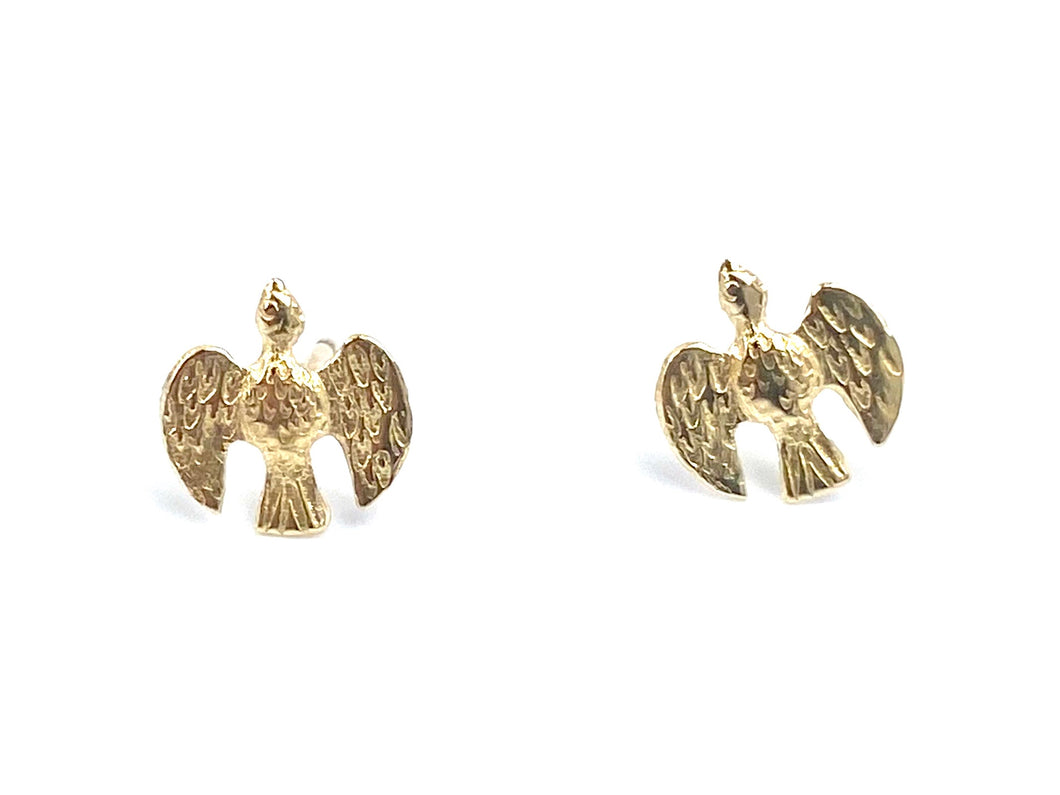14KGF Bird Studs , Sku#117-4