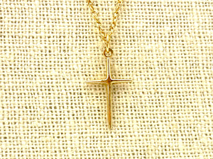 14KGF Cross Charm , Sku#GF/CR6/CR9