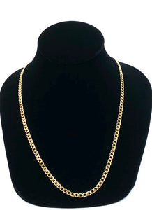 "14KGF 20"" 4.0mm Cuban Curb Chain, 14KGF, 14K Gold Filled, 14K Gold Fill, 14K Gold, Sku: S4007CHR-20"