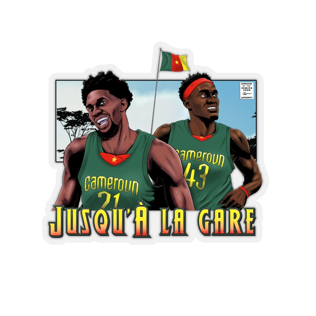 Cameroun Siakam et Embiid - Kiss-Cut Sticker