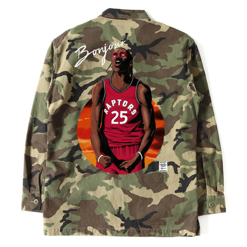"""BONJOUR"" Chris Boucher Authentic Army Jacket"
