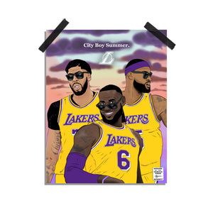City Boy Summer - Los Angeles Lakers print