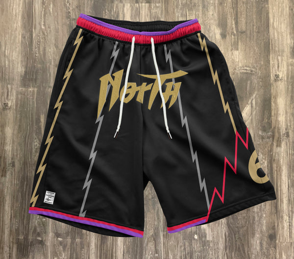 NORTH Embroidered Logo Shorts