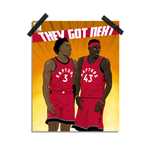 They Got Next - Raptors print