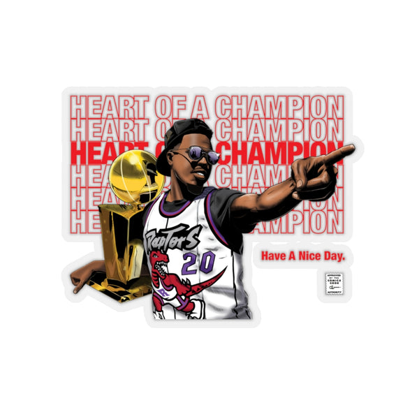 Heart of a Champion - Kiss-Cut Sticker