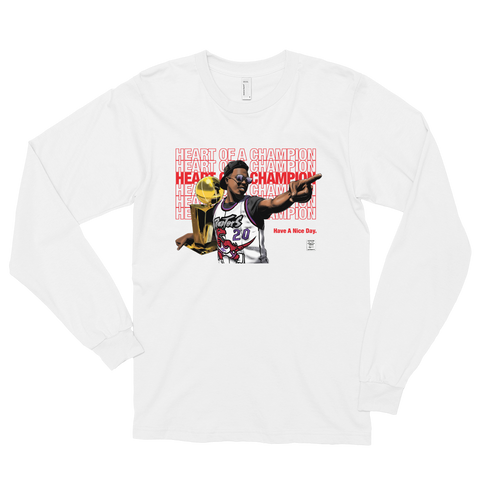 Heart of a Champion KLow- Long sleeve t-shirt