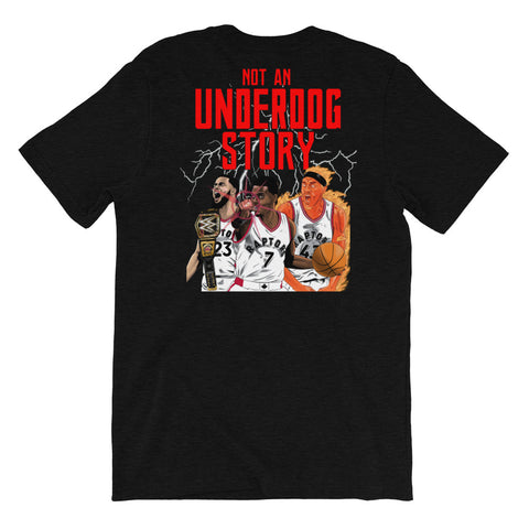 """Not An Underdog Story"" Short-Sleeve Back Graphic Tee"