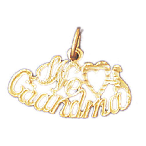 14k Yellow Gold We Love Grandma Charm