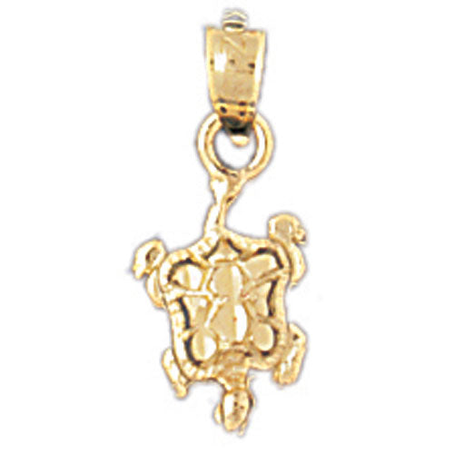 14k Yellow Gold Turtles  Charm
