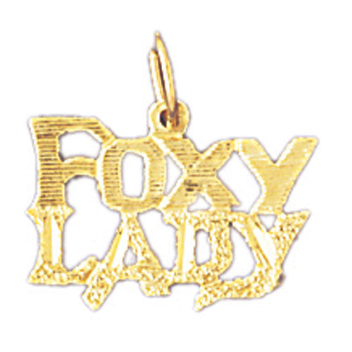 14k Yellow Gold Foxy Lady Charm
