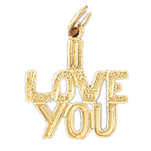 14k Yellow Gold I Love You Charm