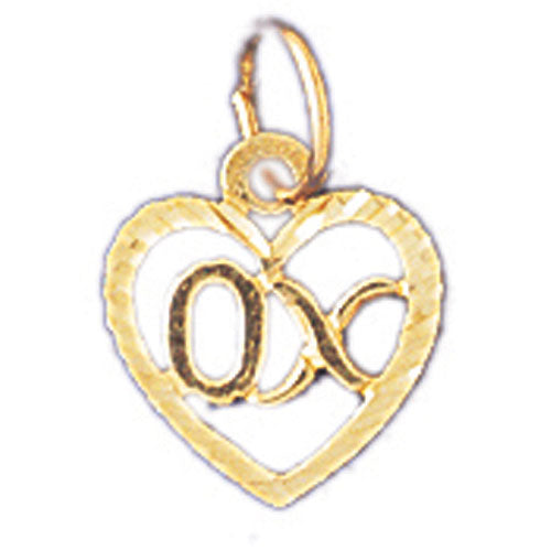 14k Yellow Gold OX Charm