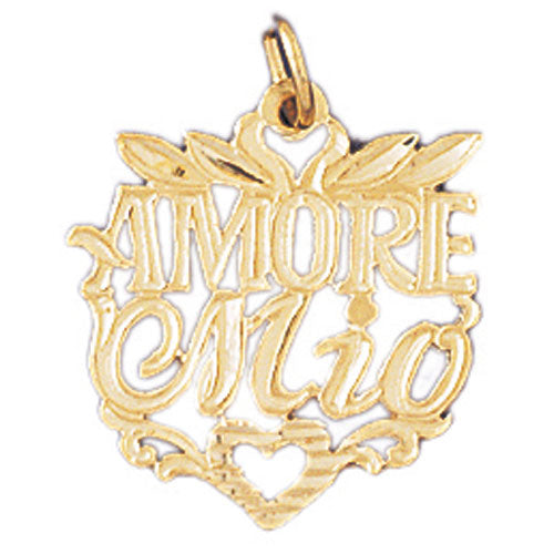 14k Yellow Gold Amore Mio Charm