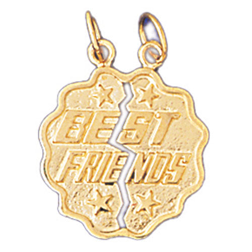 14k Yellow Gold Best Friends Charm