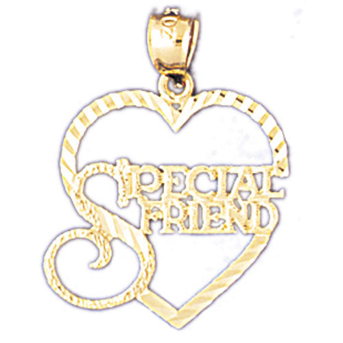 14k Yellow Gold Special Friend Charm