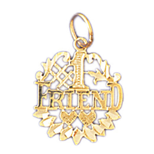 14k Yellow Gold #1 Friend Charm