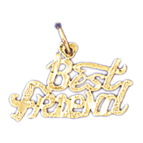 14k Yellow Gold Best Friend  Charm