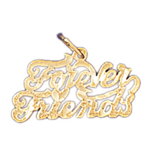 14k Yellow Gold Forever Friends Charm