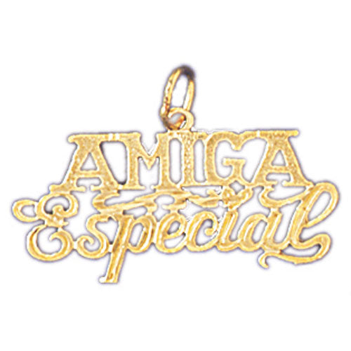 14k Yellow Gold Amiga and Special Charm