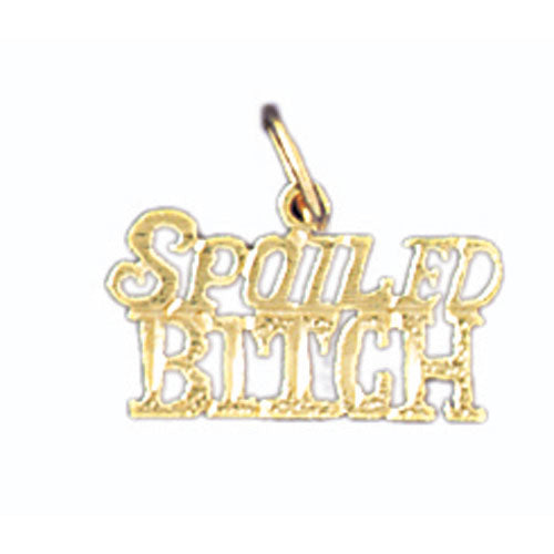 14k Yellow Gold Spoiled Bitch Charm