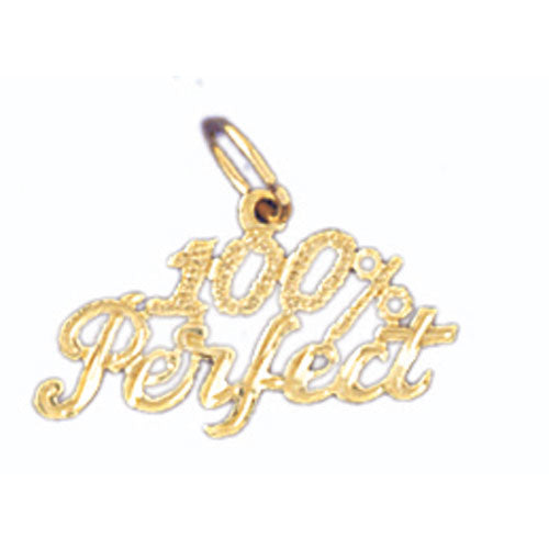 14k Yellow Gold 100% Perfect Charm